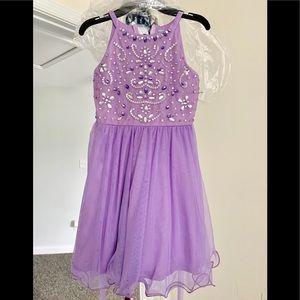 Jeweled Bodice Short A-line Party Dress
